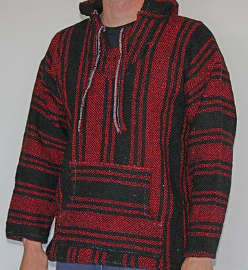 Red and Black Mexican Baja hoodie
