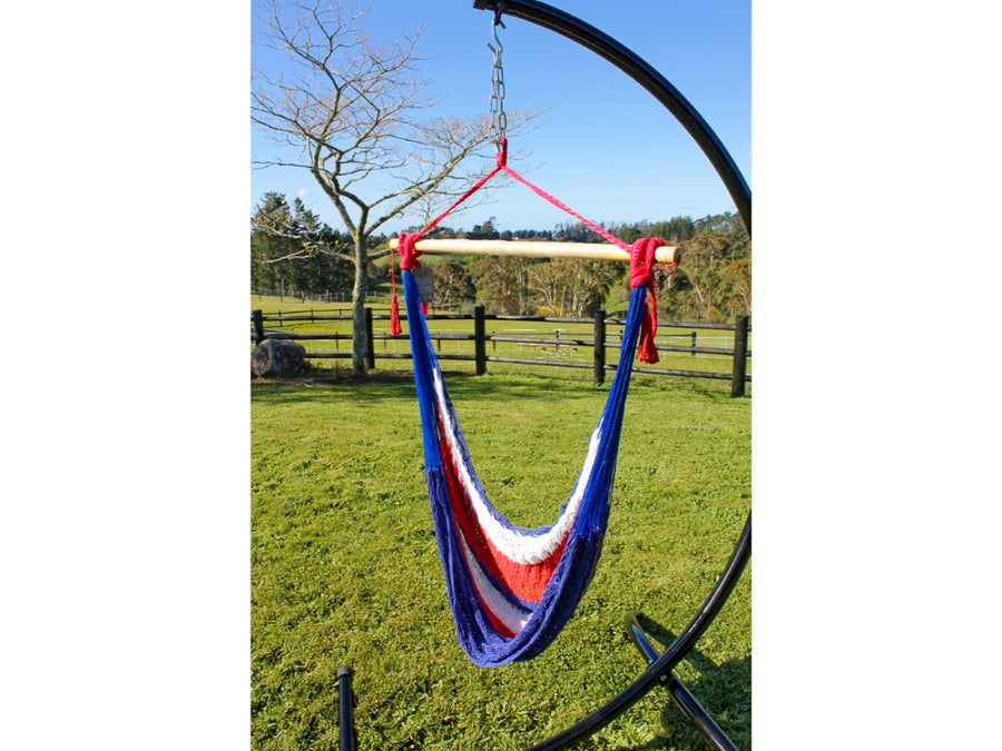 Woven Cotton Rope Hammock - Colourful Hanging Chair