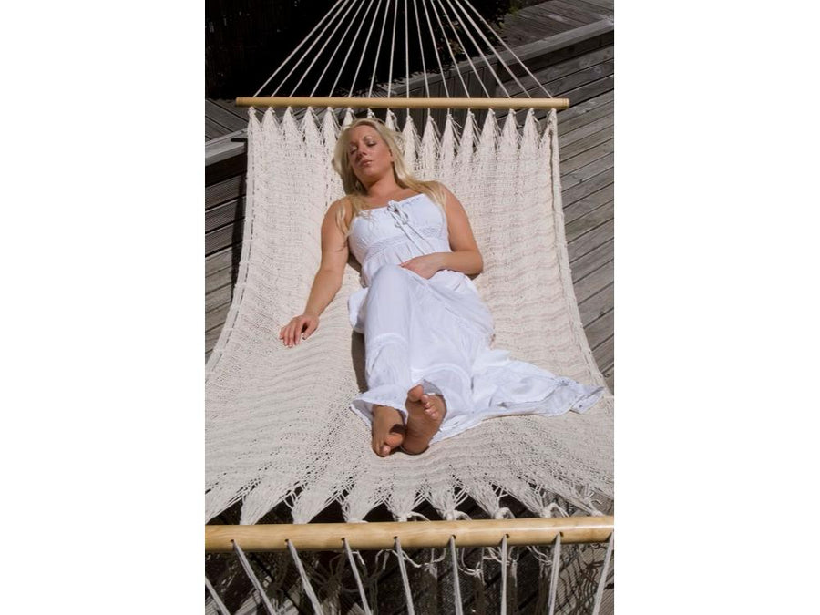 Mexican Spreader Bar Hammock - Off White