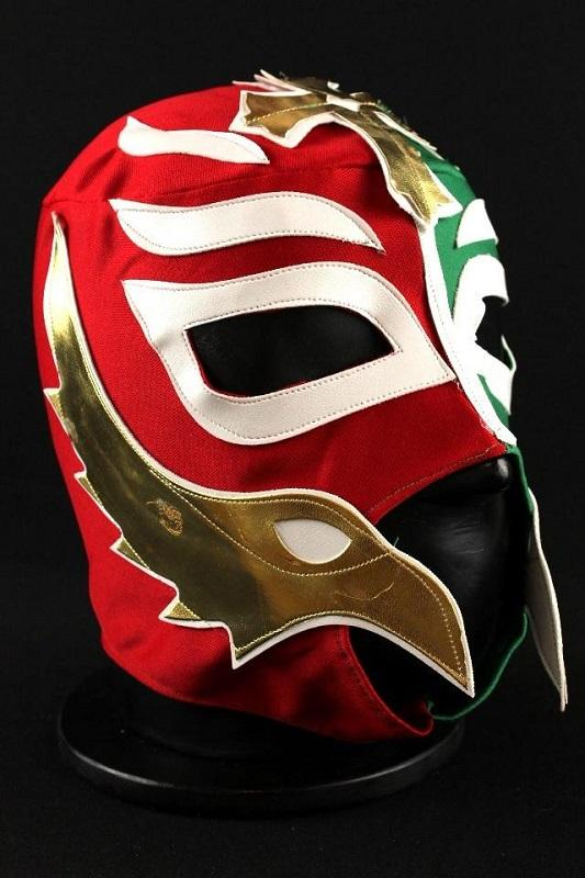 Red and Green Rey Mysterio Wrestling Mask