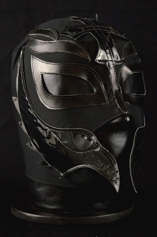 All black Mexican wrestling mask