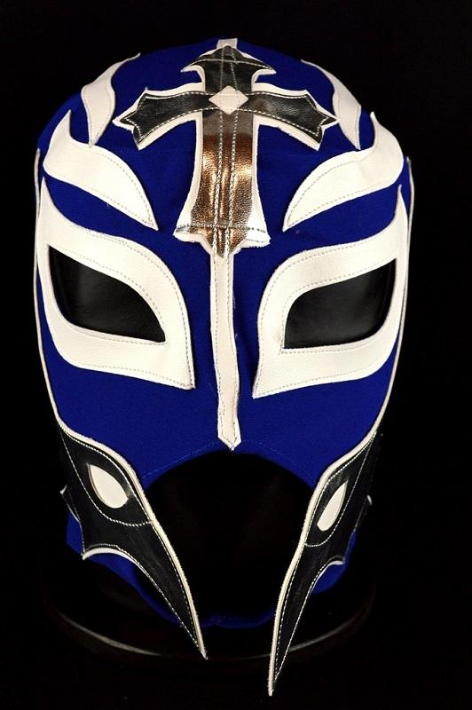 Rey Mysterio Blue, White and Silver Mask