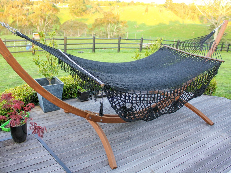 Black Spreader Bar Hammock