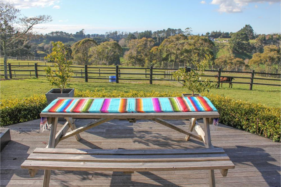 Mexican Striped Picnic Blanket