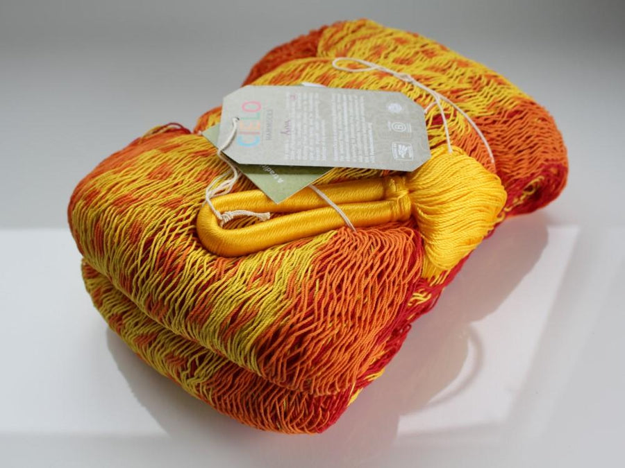 Red, Yellow and Orange Mexican Cotton Handmade Hammock