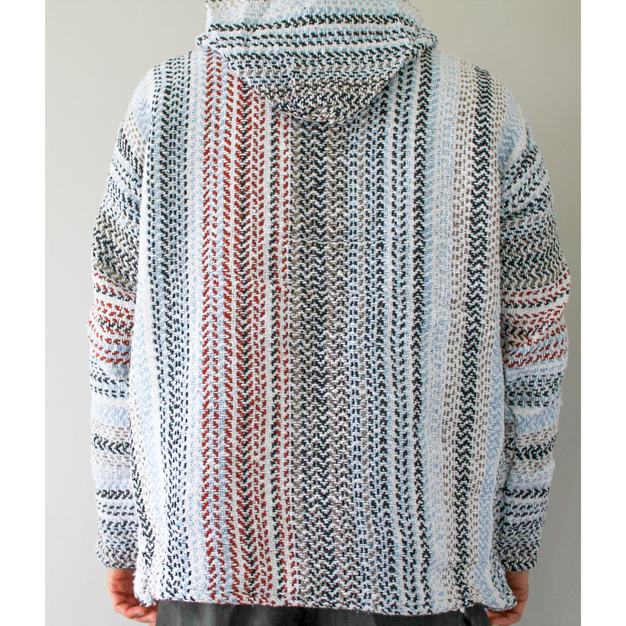 Striped Coloured Hoodie - Mexican Baja Top