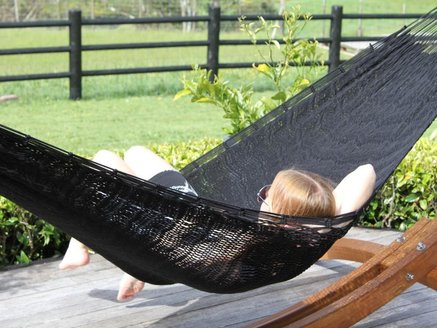 Thick Cord Black Polyester Hammock