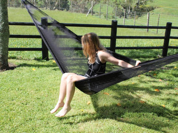 Black Mexican Outdoor Hammock