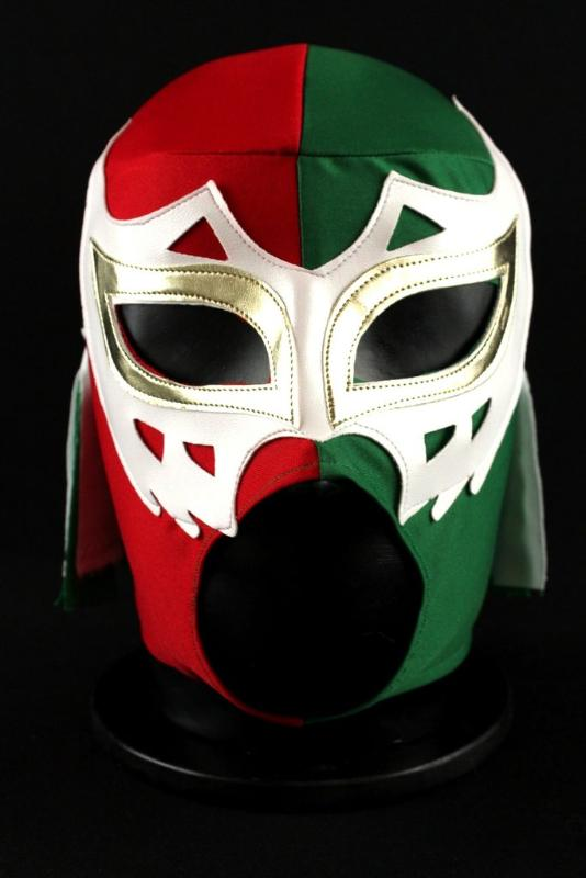 Volador - Red, Green and White Mexican Mask