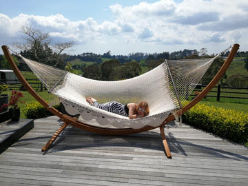 Mexican Cielo Polyester Hammock - White