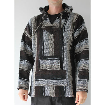 Black and Brown Mexican Baja Hoodie