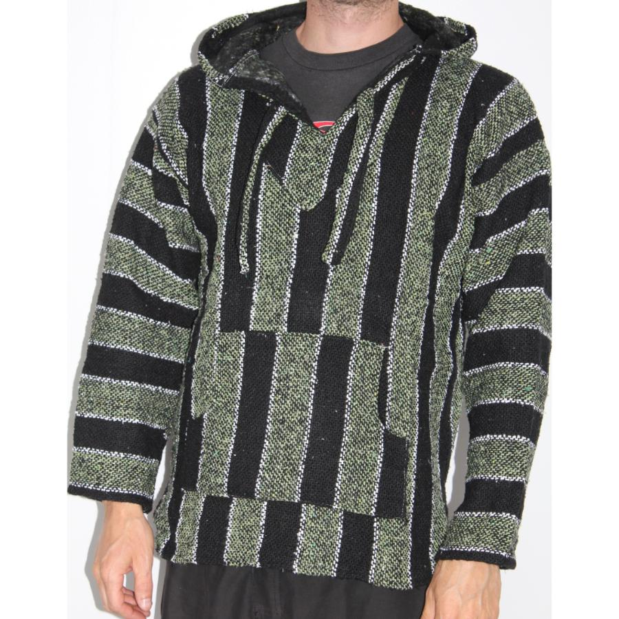 Black and Green Mexican Baja Pullover