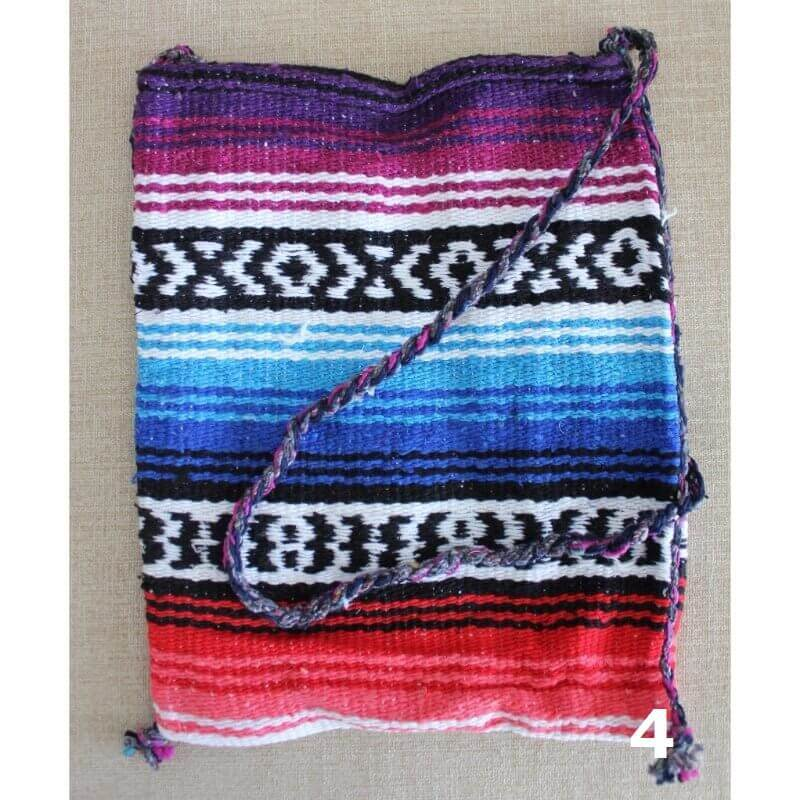 colourful woven shoulder bag