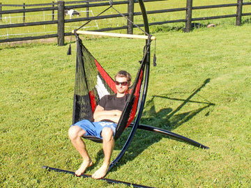 Hammock Chair - Modern - Red, White and Black Colour