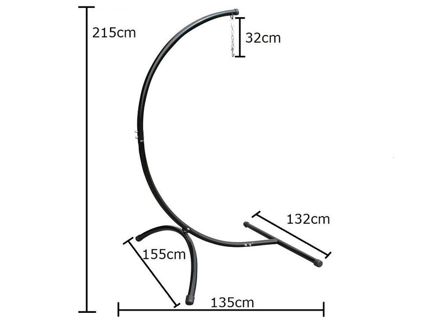 Curved Chair Hammock Stand Dimensions