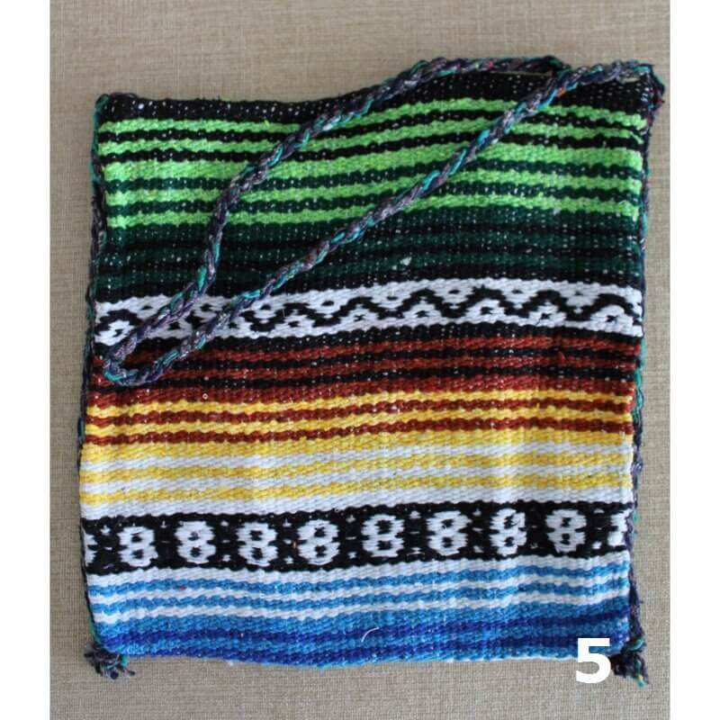 colourful mexican fabric bag