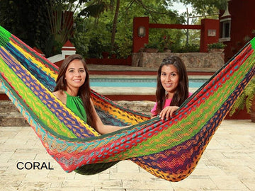 Multi-colour Mexican thick string hammock