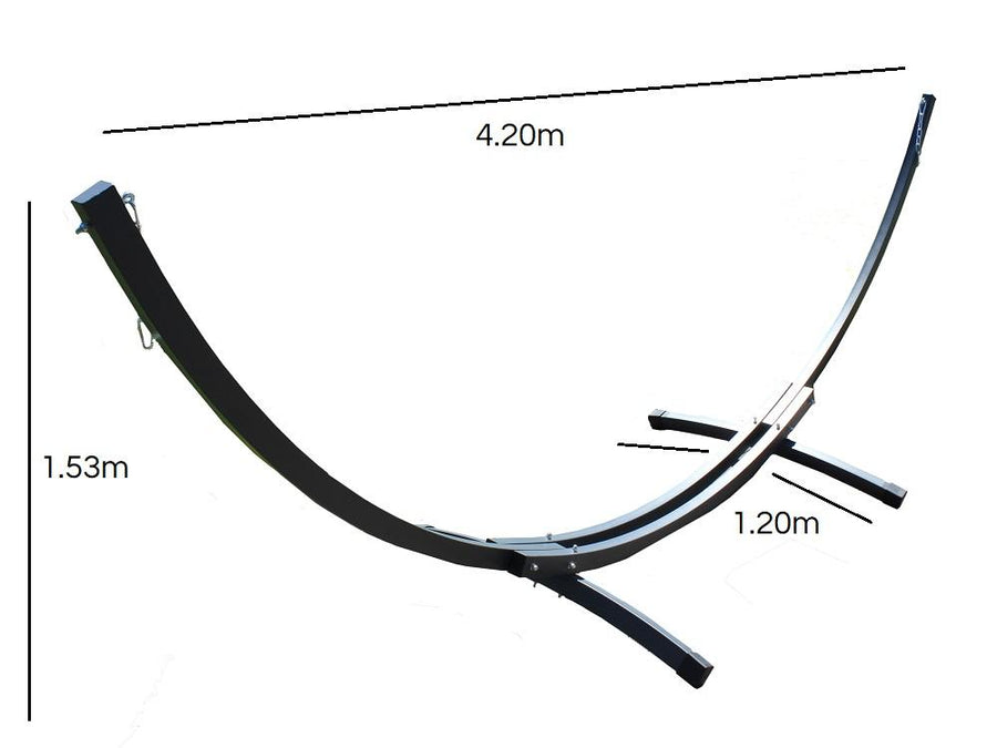 Curved metal hammock stand dimensions