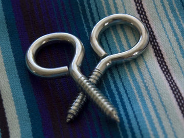 Hammock screw eye hooks