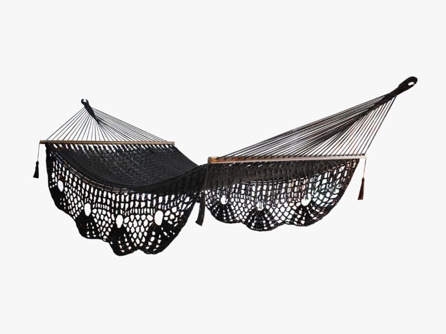 King Resort Black Polyester Hammock