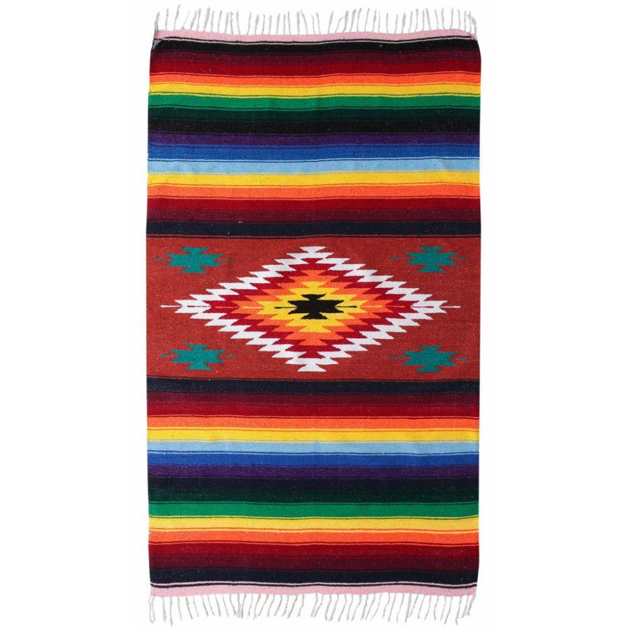 Mexican Red Saltillo Blanket