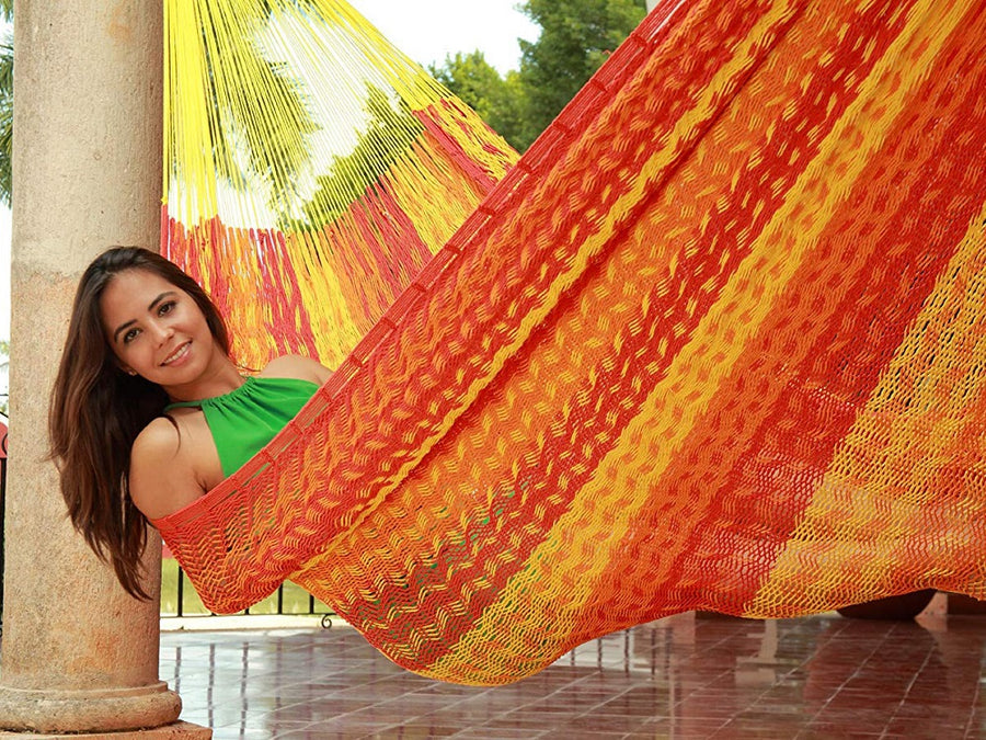 Mexican thick cord beach hammock