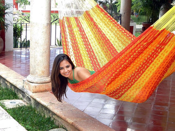Tequila Sunrise Coloured Mexican Hammock