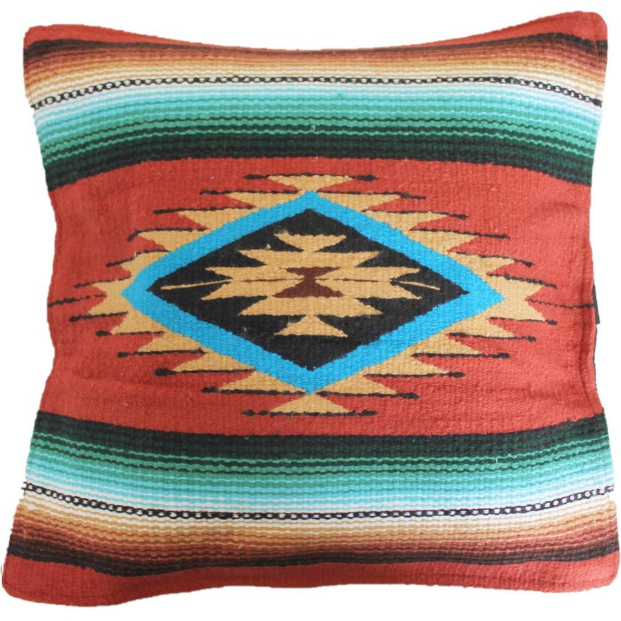 Terracotta Coloured Sarape Cushion Cover
