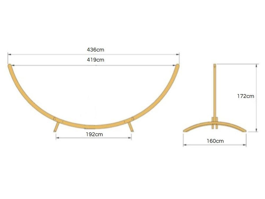 Wooden Arc Hammock Stand Dimensions