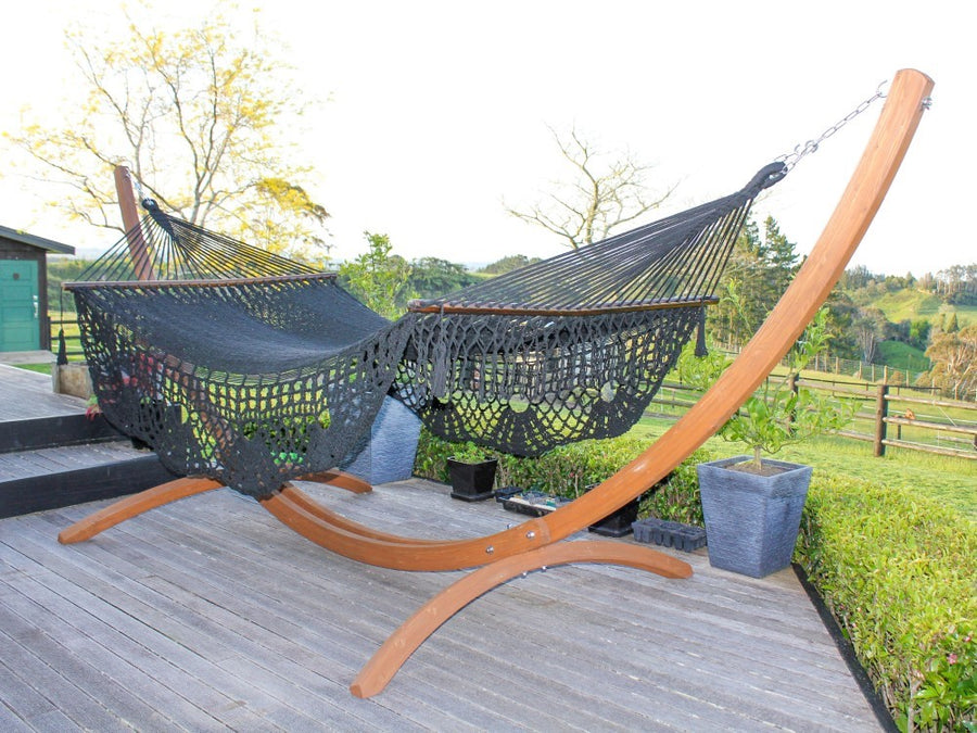 Bar Hammock - Mexican Fair Trade Made - Black Polyester