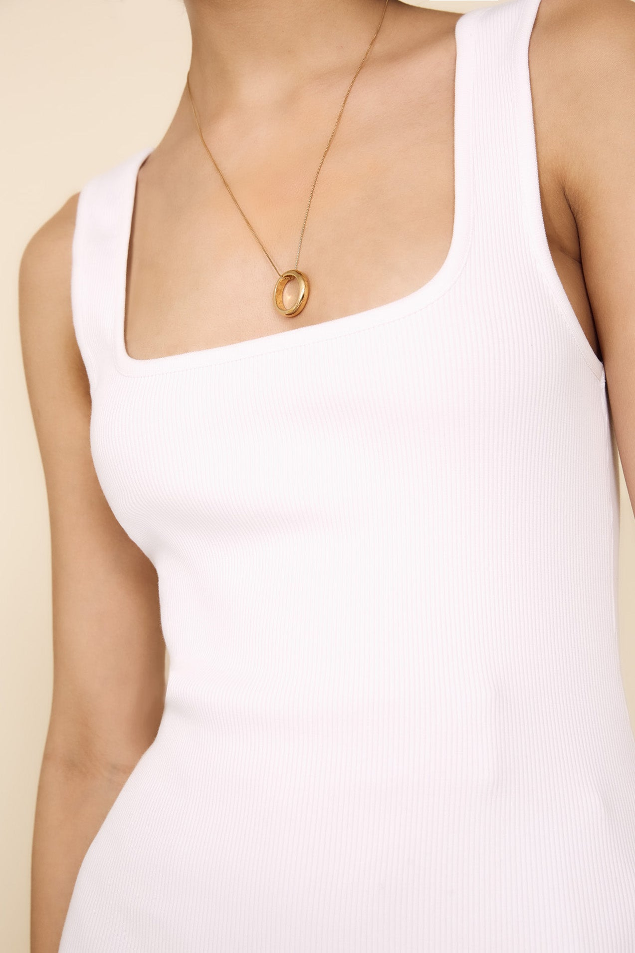 The Hip To Be Square Tank in White