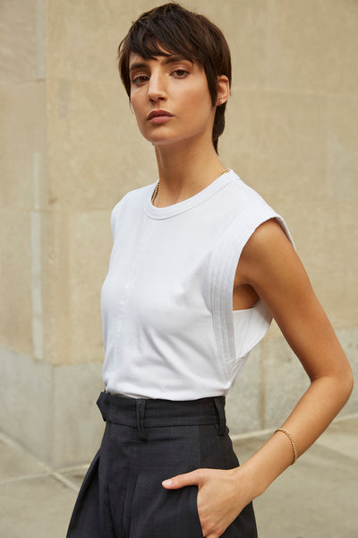 The Gimme That Shoulder Tee in White