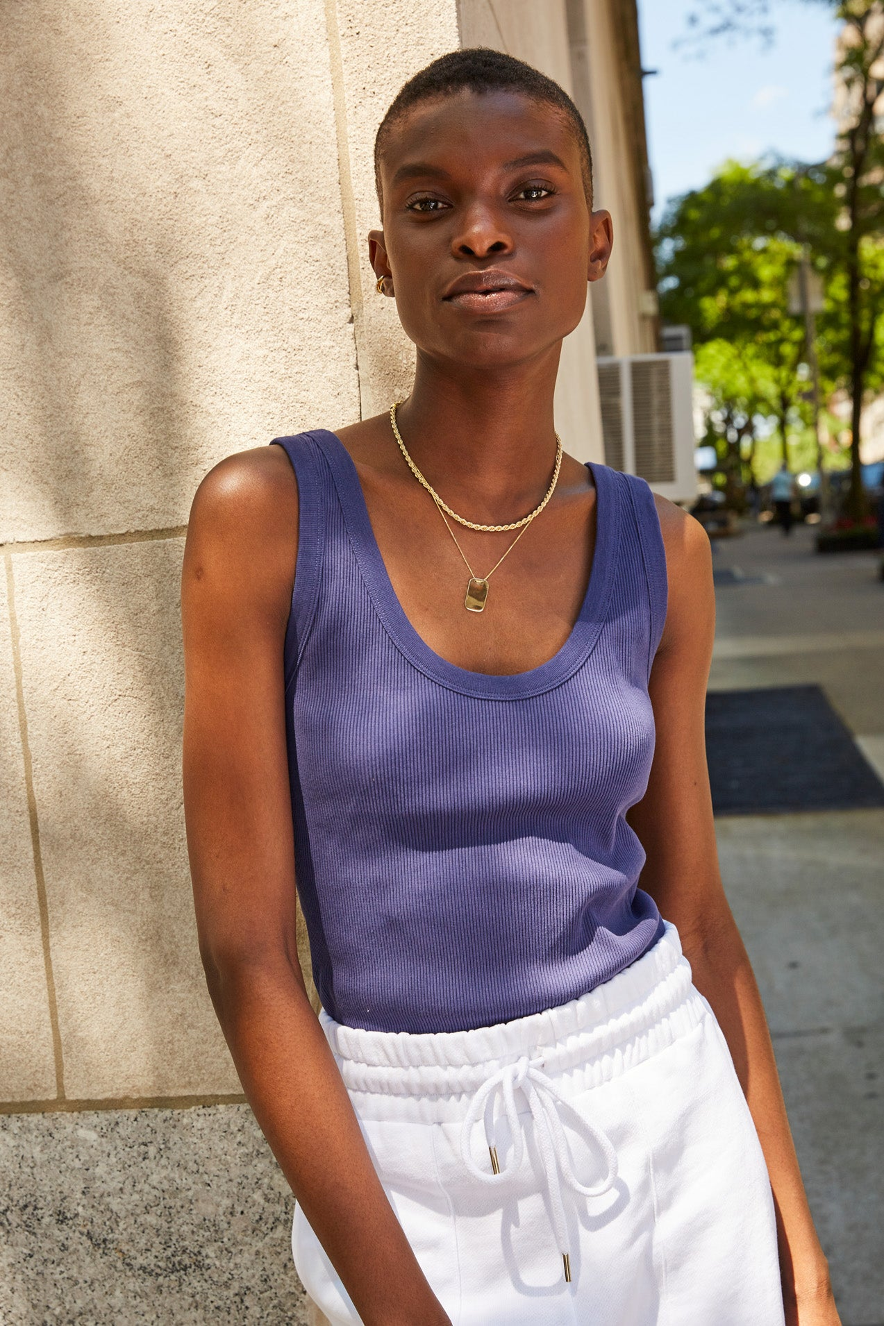 The Scoop It Up Tank in Perfect Blue