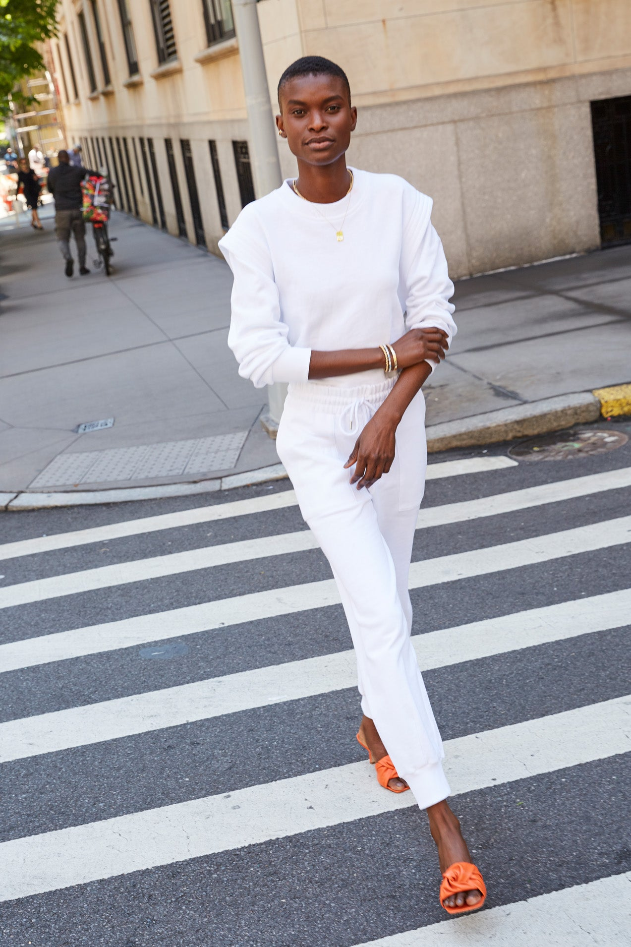 The Puff Jogger in White