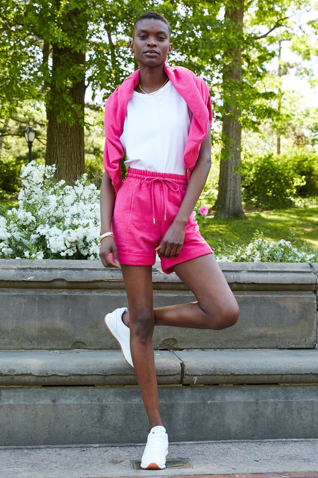 The Roll It Up Short in Electric Pink