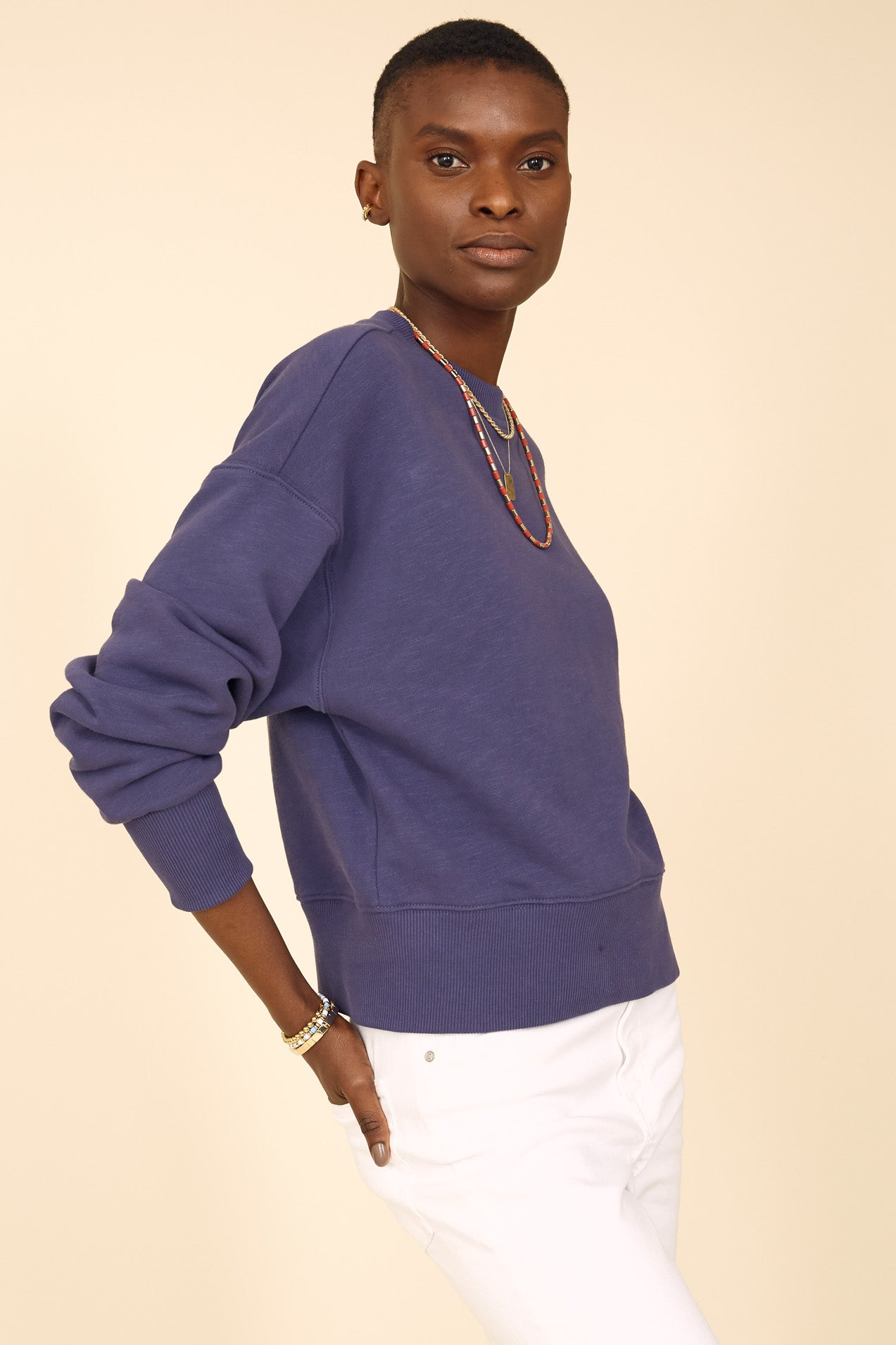 The Essential Sweatshirt in Perfect Blue