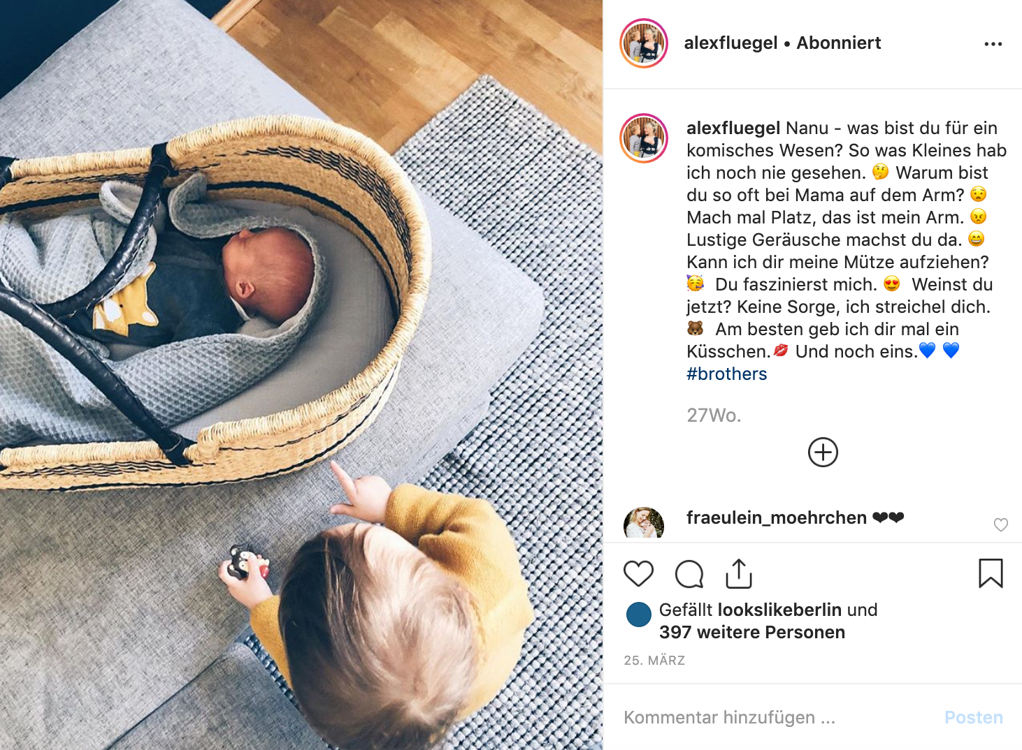 mara mea Modelmama Alex Flügel im Instagram Take Over