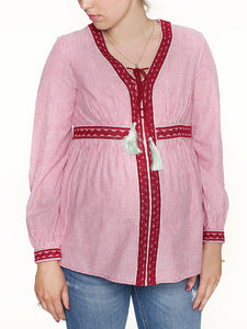 Picture perfect ist mara meas Umstandsbluse im boho Stil