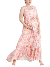 Umstands- & Stillkleid *queen of hills* von mara mea mit Paisleymuster in rosa