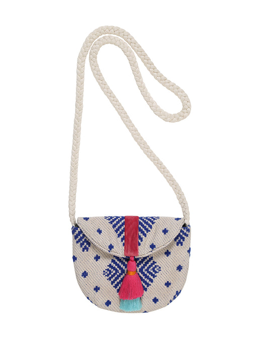 Kinderhandtasche *bollywood dancing* in blau/creme von mara mea