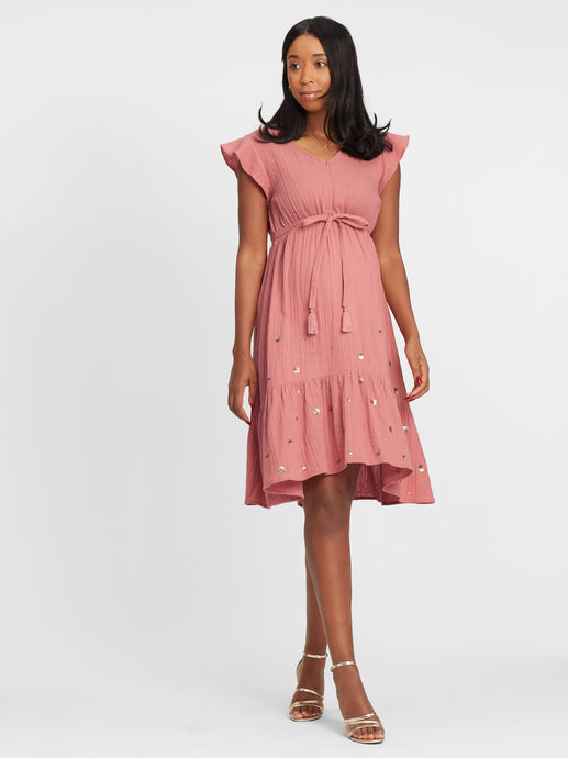 Umstands- & Stillkleid rose apple in blush