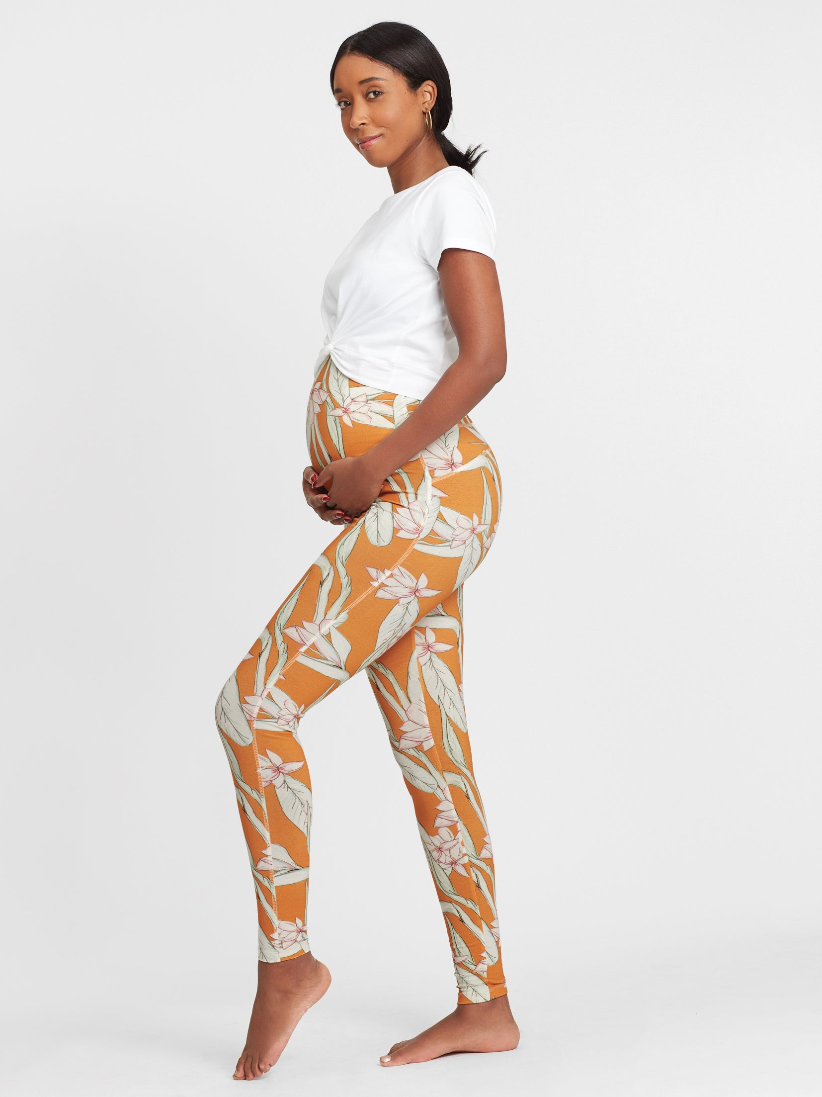 Umstandsleggings utterly unique in ocker I PRE-ORDER