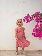 Kinderkleid coral triangle in blush