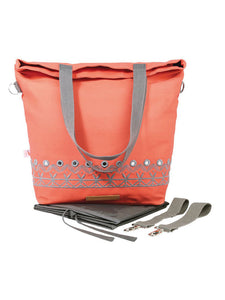 Wickeltasche eye candy in peach