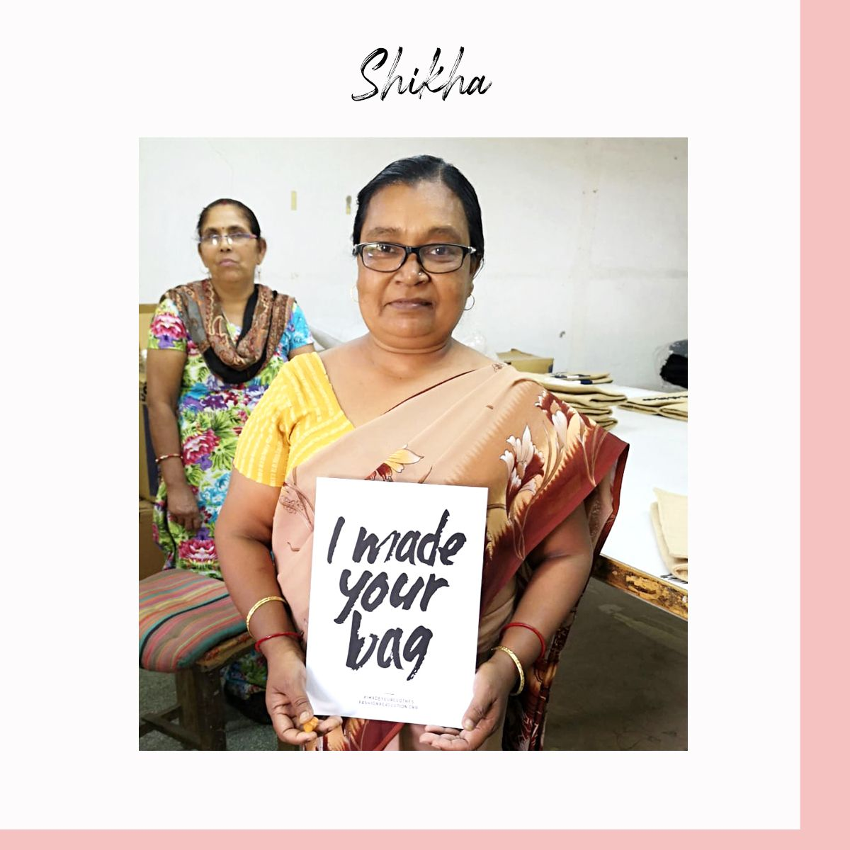 Shikha - maramea Beena - our bag production