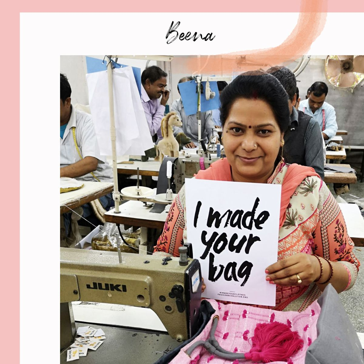 Beena - our bag production