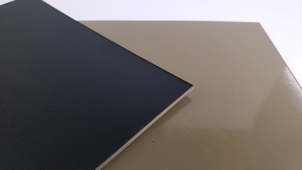 Dual Layer Royalite™HG by Spartech™ - Black | Flat Dark Earth