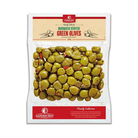 MARINATED STUFFED GREEN OLIVES 350g
