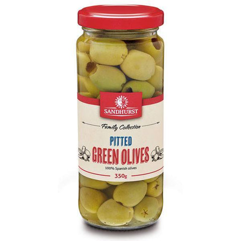 PITTED GREEN OLIVES 350g