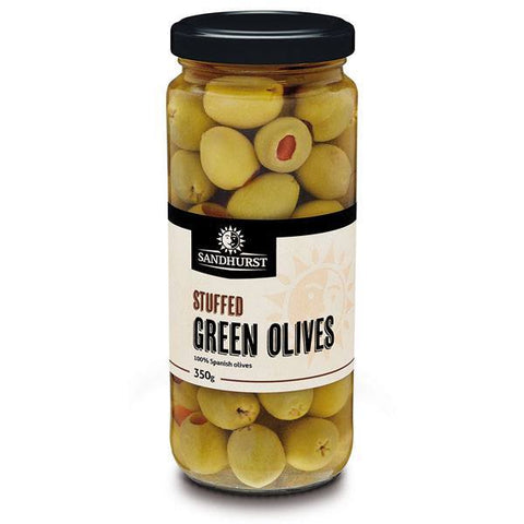 STUFFED GREEN OLIVES 350g